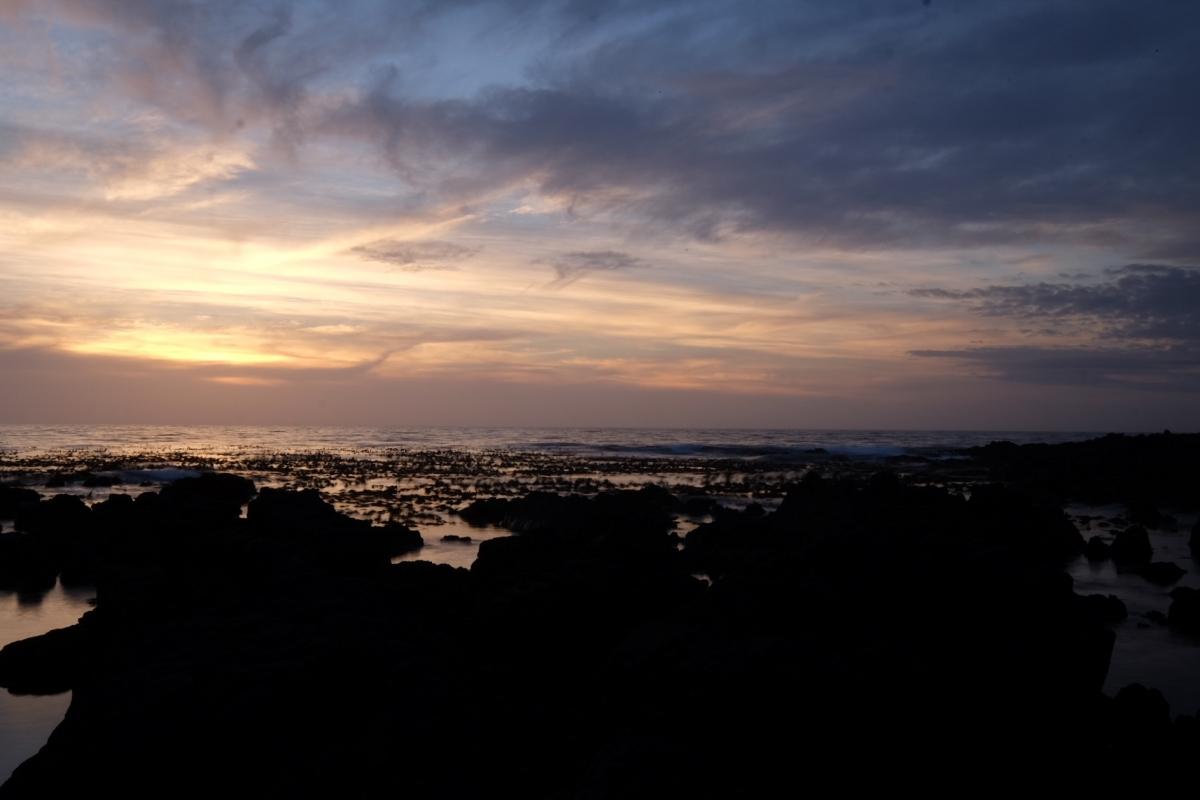 coucher soleil sur terre